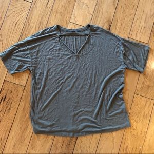 West coast love olive green XL ribbed tee